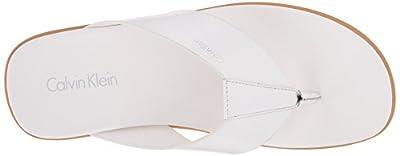 Calvin Klein Men's Deano Matte Box Leather Dress Sandal