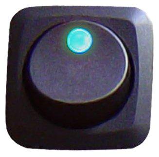 Keep It Clean SW16B Blue 25 Amp/12V Square Framed LED Rocker Switch