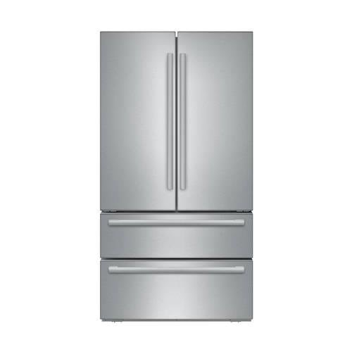 "Bosch B21CL81SNS BS800 36"" 21 CF 4-Door Counter-Depth French Door Refrigerator"