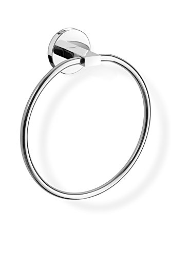 - Zack 40096 Scala Wall Mounted Towel Ring with High Gloss Swiveling, Diameter 7.87