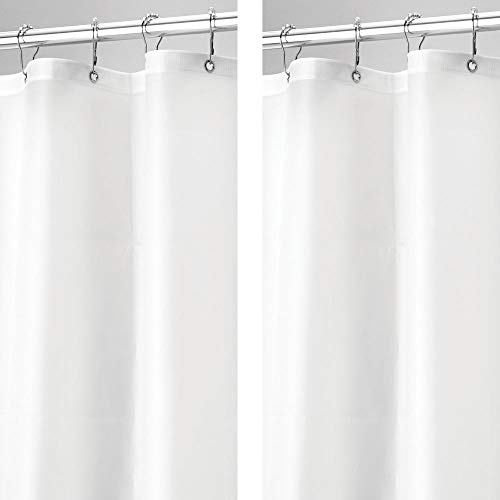 mDesign - 2 Pack - Waterproof, Mold/Mildew Resistant, Heavy Duty Premium Quality 10-Guage Vinyl Shower Curtain Liner for Bathroom Shower and Bathtub - 72