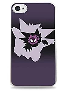 Gengar Evolution Ghastly Haunter Pokemon Apple iPhone 6 (4.7 inch) i6 Silicone Case - White- 420