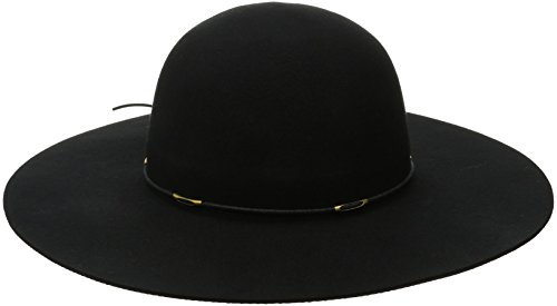 Scala Women's Felt Floppy Hat with Wax Cord Trim, Black, ...