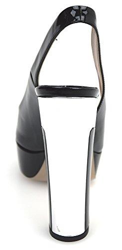 Miu Miu Sandalias de Tacón Para Mujer Pintura Negro Art. 5XP479F-135 40 Nero - Black