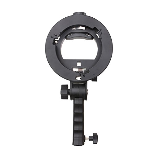 LEDMOMO Bracket Handle Grip Speedlite Mount Holder with Bowens-mount for Snoot Flash (Small Sized Softboxes)