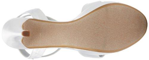 Dyeables Womens Hopp Plattform Sandal Vit Satin