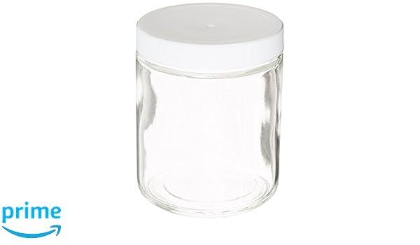 Ep científica claro recto cara boca ancha tarros botellas de cristal, 250 ml capacidad, L3 nivel (caso de 24): Amazon.es: Industria, empresas y ciencia