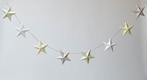 BALLOON and CO Star Decoration - (White/Cream/Gold/Silver) - Perfect for Weddings, Birthdays, Baby Showers