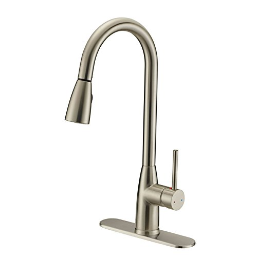 Designers Impressions 614722 Satin Nickel Single Handle K...