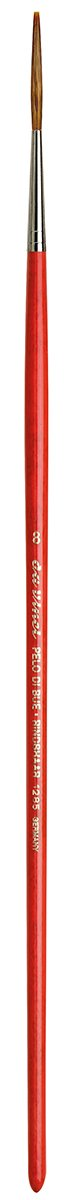 1687-00 Round Light Ox Hair Sabeline with Red Handle Size 2//0 da Vinci Oil /& Acrylic Series 1687 Paint Brush