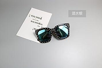 KLXEB Sonnenbrillen, Brillen, Sonnenbrillen, Prinzessin Mädchen Niet Sonnenbrille, Blau