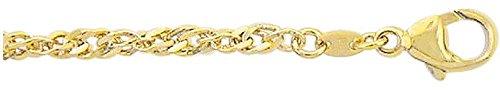 Singapour or bracelet en or jaune 33319cm