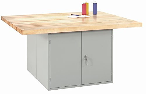Diversified Woodcrafts WB2-0V 4-Station Workbench Without Vises, The Unit Provides Two Door Units, 33.25