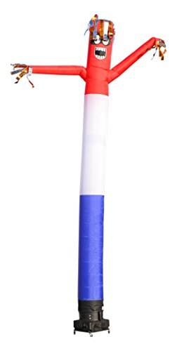 (AirRanger Reflective Inflatable Bird Scare Deterrent Set with Weather Resistant Blower, Red, White, Blue, 20-Feet)