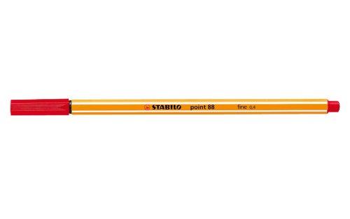 STABILO 88/40 point88 rot, 10er Faltschachtel - Fineliner