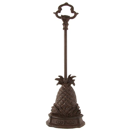 Heavy Cast Iron Pineapple Door Porter Door Stop with Carry - Iron Furniture Cast Door