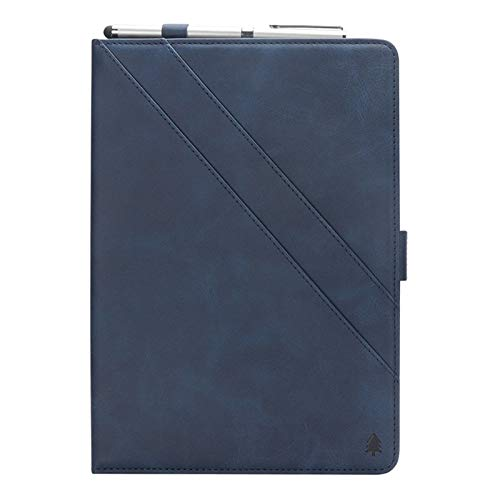 TechCode Galaxy Tab S3 9.7 Case, Retro PU Leather Stand Folio Case for Samsung Galaxy Tab S3 9.7 inch SM-T820/T825 Tablet Cover with Multiple Viewing Angles/Pen Holder/Card Slots Pocket -Dark Blue