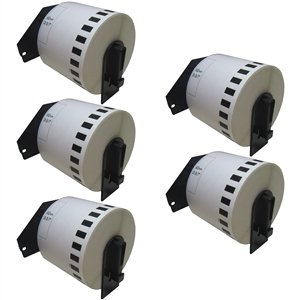 SuppliesOutlet Brother DK-2205 Compatible Continuous Paper Tape - White Paper - (5 (Dk Paper Tape)