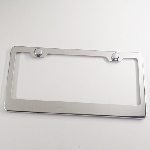 New Stainless Steel Chrome Mirror Universal Fit License Plate Frame by KA Depot