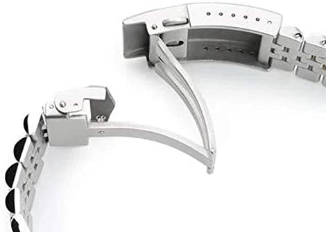 Bracciale per orologio Strapcode 20mm Super Jubilee in acciaio inossidabile 316L per Seiko SKX013, V-Clasp Two Tone IP Gold