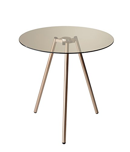 Adesso WK2081-20 Gibson Accent Table (Glass Table End Adesso)
