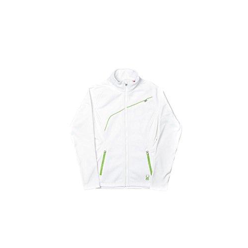 Spyder Women's Essential Sweater, White/Green Flash, Medium