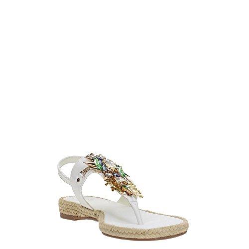 Versace Jeans Damen Scarpa Zehentrenner White