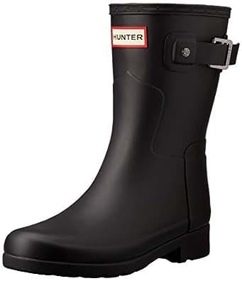 Hunter Original Refined Short Women's Boots, Black, 5 US