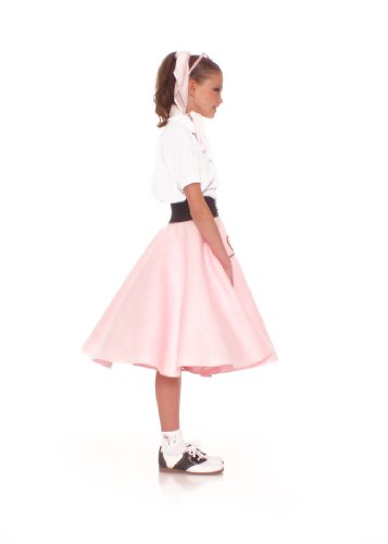 Poodle Skirt for Girls Size Small 4/5/6 Light Pink by Hip Hop 50s Shop (Image #2)