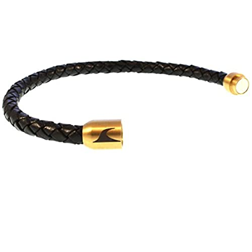 fcbb9860f268 Chic wavepirate® Piel de pulsera Sylt g negro oro hombre - www ...