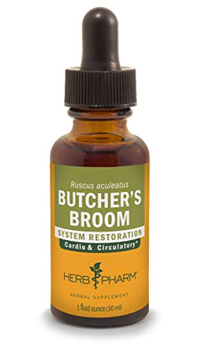 Butchers Broom - Herb Pharm Butcher's Broom Liquid Extract for Cardiovascular and Circulatory Support - 1 Ounce