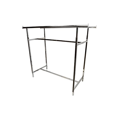 Double Parallel Bar Adjustable Clothing Garment Retail Display Rack Rail Bar Clothes Hanger