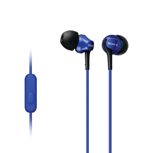 - Sony MDR-EX100AP/L In-Ear Headset for Android Smartphone, Blue