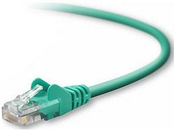 2FT CAT5E SNAGLESS PATCH CABLE, UTP, GREEN PVC JACKET, 24AWG, T568B, 50 MICRON,