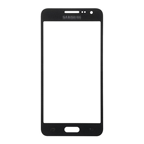 LUVSS New Sceen Glass [LCD Digitizer not Included] Replacement for Samsung Galaxy A3 2015 A300 A300a A300f A300p A300r4 A300t A300v Touch Screen Front Outer Glass Lens Panel Repair Part (Black)