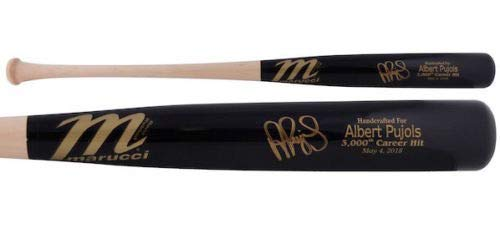 ALBERT PUJOLS Autographed 3000 Hits Engraved Marucci Game Model Bat FANATICS