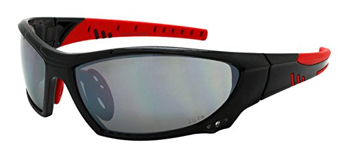 Edge I-Wear Sports Safety Sunglasses ANSI Z87+ Flash Mirror Lens (Fm Lens Accessories)