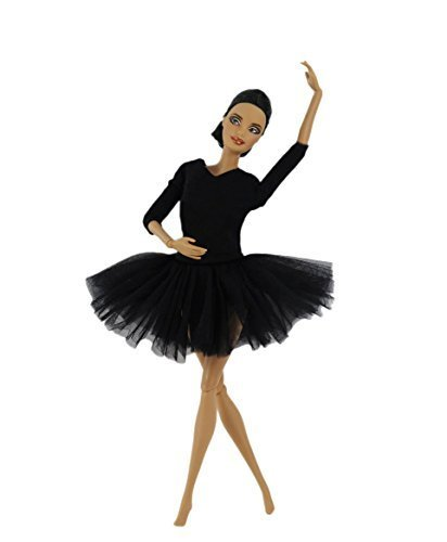 FairyStar Black Fashion Handmade Ballet Dress Clothes For Barbie Doll