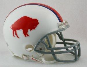Buffalo Bills 65-73 Riddell VSR4 Mini Replica Football Helmet 1969 Riddell Mini Replica