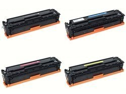 Generic Compatible Toner Cartridge Replacement for HP CB540A (Black, Cyan, Magenta, Yellow, 4-Pack)