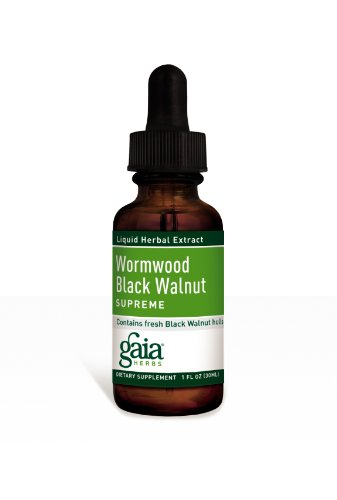 - Gaia Herbs Wormwood Black Walnut Supreme, Liquid Herbal Extract, 1 Ounce (Pack of 2) - Supports Healthy Intestinal Flora & GI Tract Health