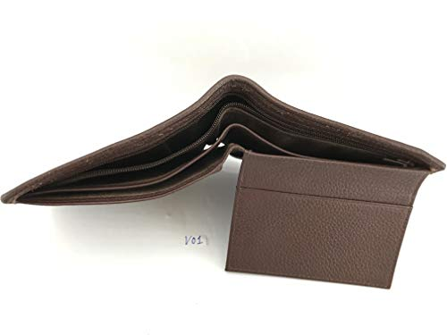 Wallet Skin 1 Men's Genuine Handamde Leather Crocodile V02 Brown Bifold AHFxFq