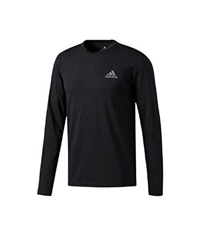 adidas Mens Training Ultimate Long Sleeve Tee, Black, Large