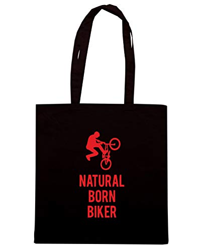SP0112 Borsa BORN Nera NATURAL Shopper BIKER qSS6E4x