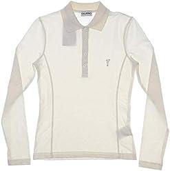 858a1e71 Golfino New Womens Sun Protection Long Sleeve Golf Polo XX-Small XXS  Off-White