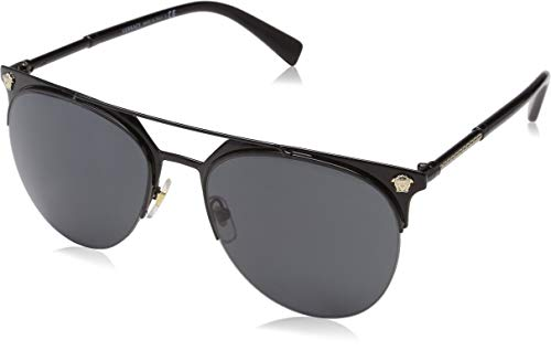 Versace Men's VE2181 Black/Grey One Size (Versace Sonnenbrillen Shop)