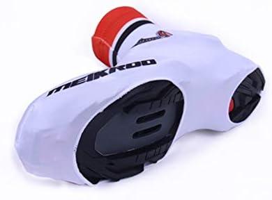 サイクリングシューズカバー 自転車乗馬ユニセックス冬防風暖かいフリース通気性カバー自転車オーバーシューズアウトドアスポーツ 防水レインブーツシューズカバー (Size : L)