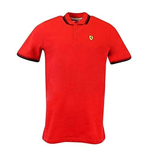 (Scuderia Ferrari Men's Formula 1 2018 Authentic Men's Red Contrast Collar Polo (2XL))