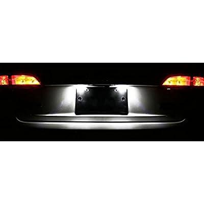 LED Number License Plate Light For VW Jetta MK4 MK5 Passat B5.5 Wagon Tiguan Touareg: Automotive