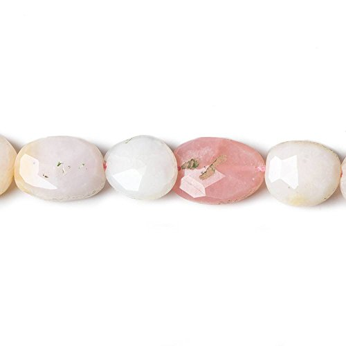 (9x8-13x10mm Pink Peruvian Opal faceted oval beads 13 inch 29 pieces)